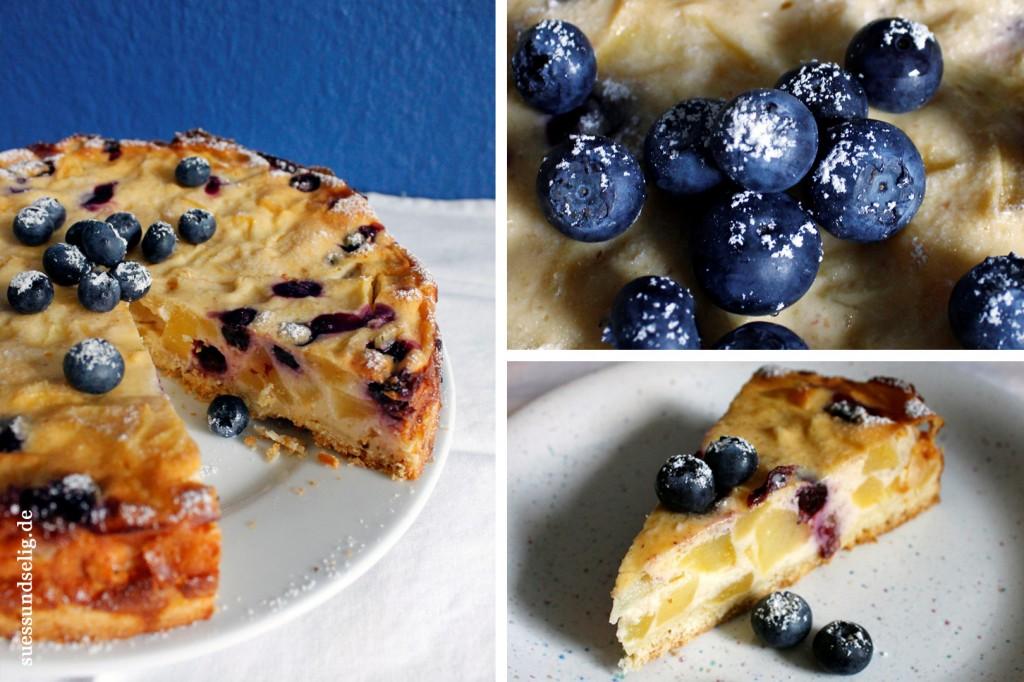 Apfel-Heidelbeer-Torte