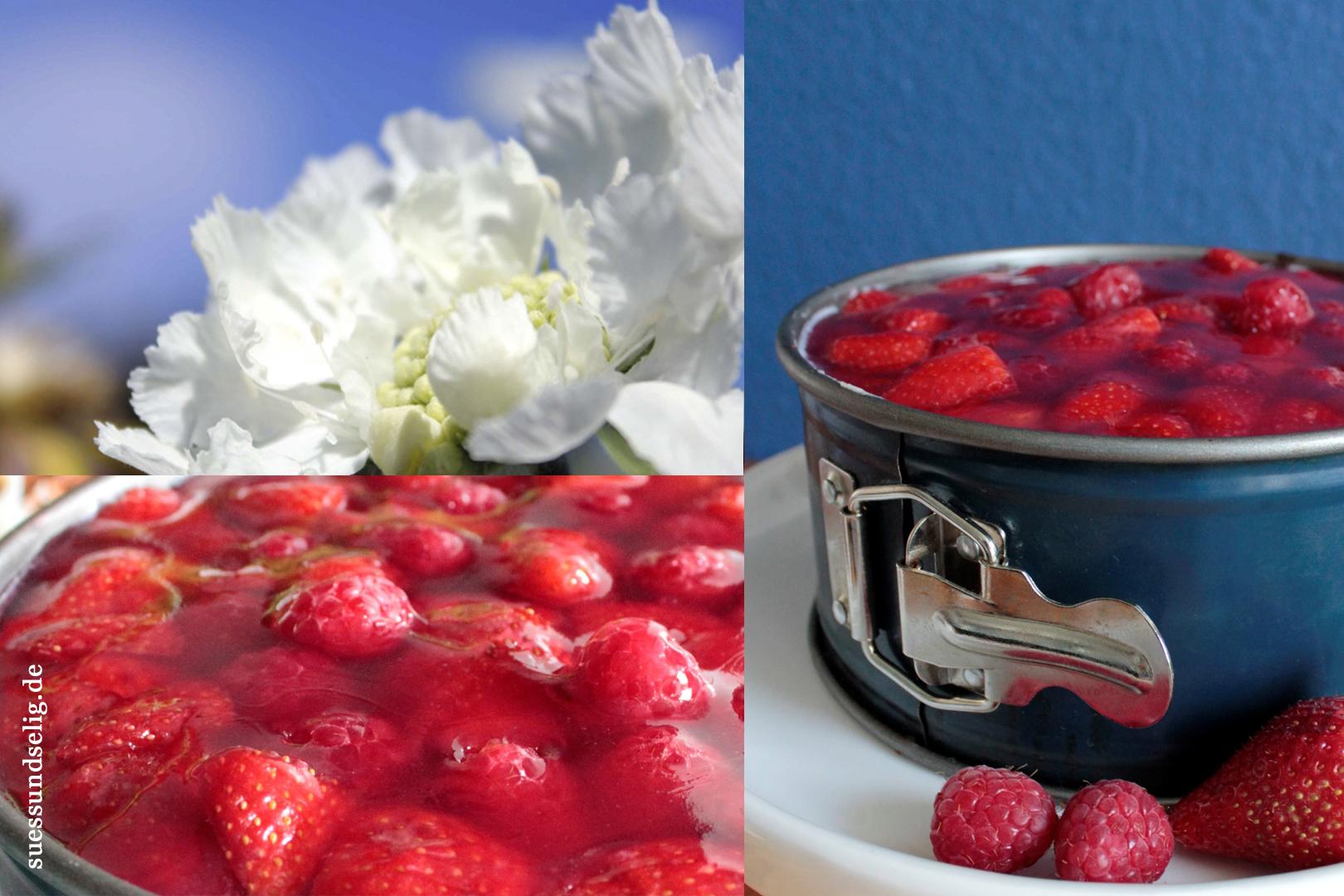 himmlisch fruchtig frischk se sahne torte mit erdbeeren und himbeeren. Black Bedroom Furniture Sets. Home Design Ideas
