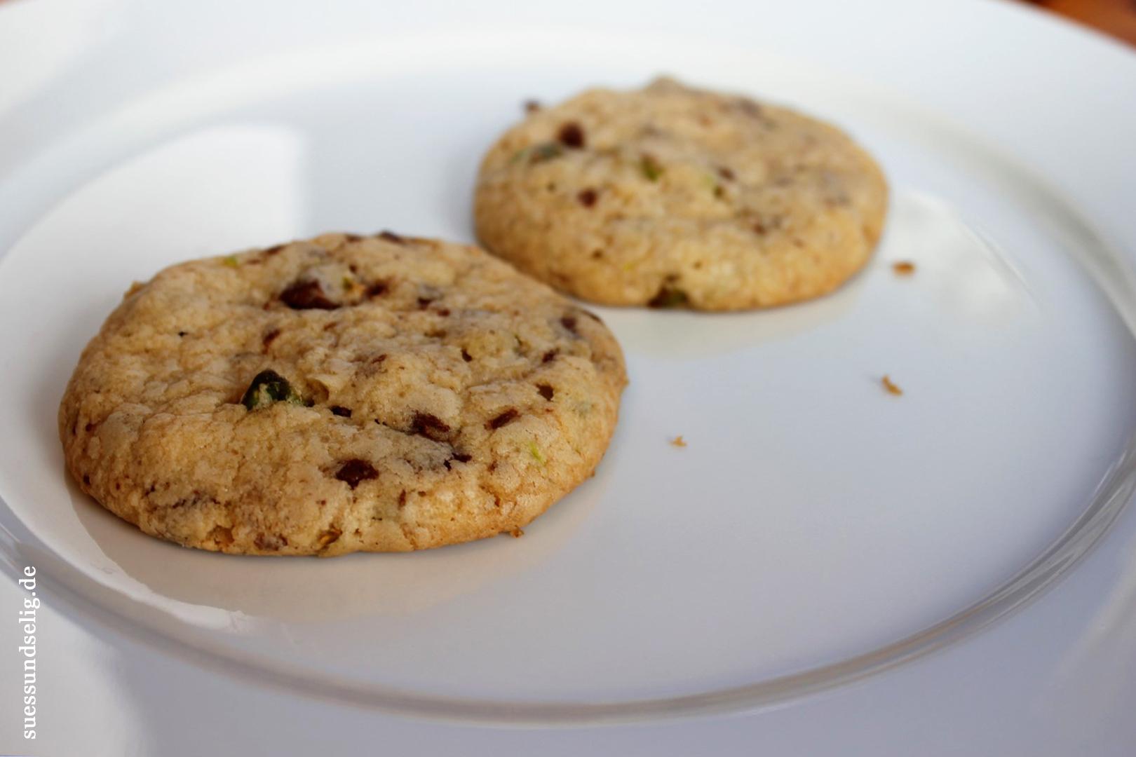 Pistazie-Schoko-Cookies