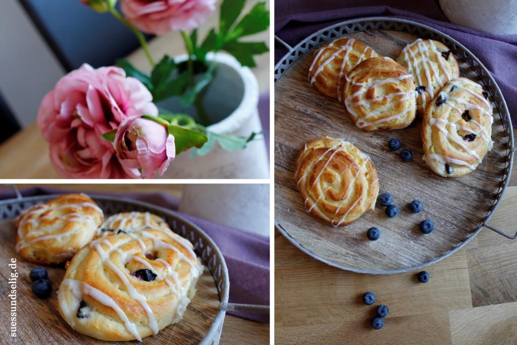Puddingschnecken mit Blaubeeren