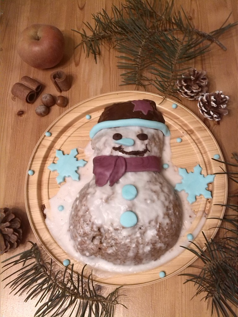 Schneemann-Kuchen
