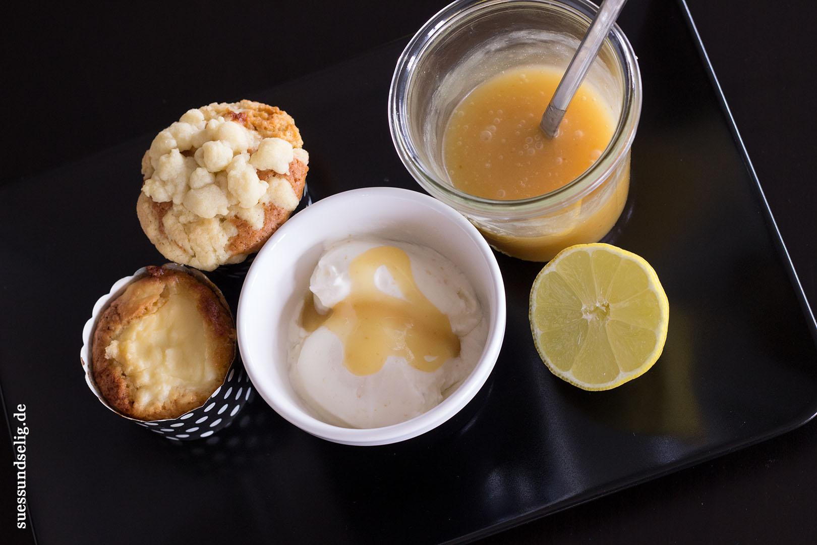 lemon muffins mit frischk se und lemon curd und zitronen buttermilch eis suessundselig. Black Bedroom Furniture Sets. Home Design Ideas
