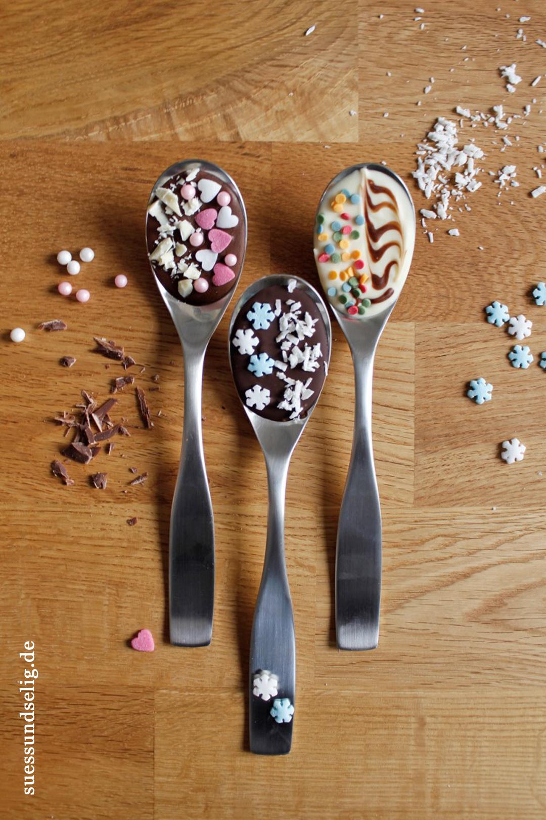 Kreative Geschenkidee Heisse Schokolade Auf Dem Loffel