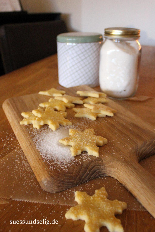 Butterplätzchen mit Zuckerkruste