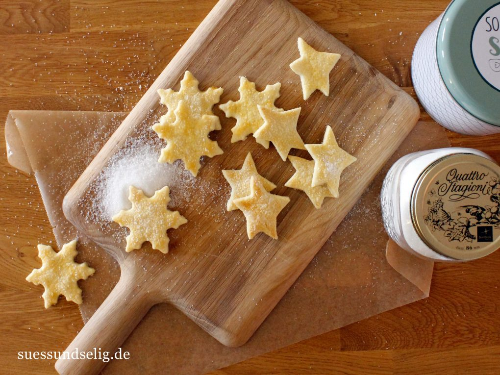 Butterkekse mit Zuckerkruste